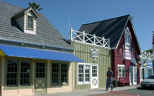 Oceanside Harbor Village in southern California, a short walk from our vacation rental has shops and restaurants, click to enlarge